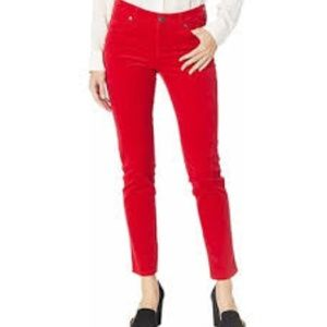 Kut from the Kloth Diana skinny jeans red 2